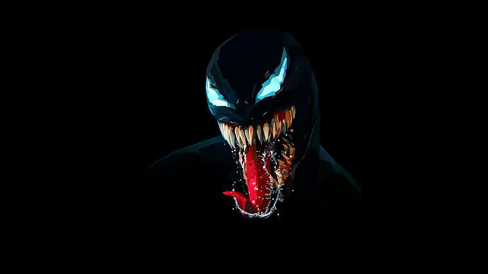 venom-2560x1440-artwork-minimal-dark-background-black-hd-14083