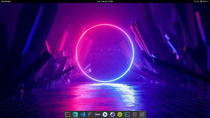 Ubuntu 21.04 com GNOME area de trabalho