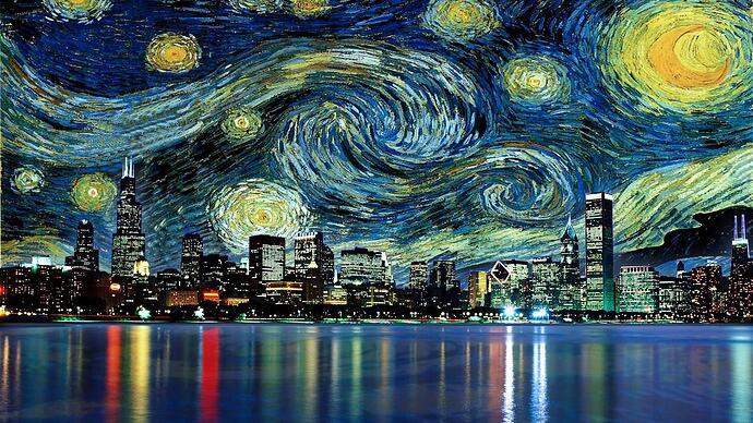 Van Gogh in te city