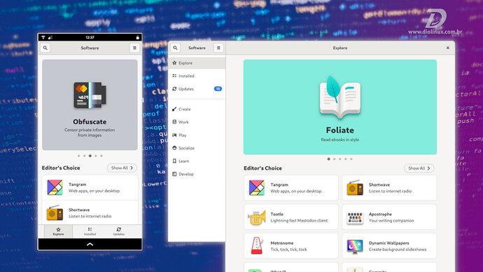 0025 - gnome software com nova ui