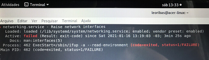 Network Acer-Linux