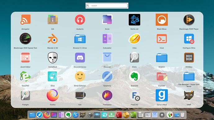 openSUSE Tumbleweed com KDE Plasma menu de apps