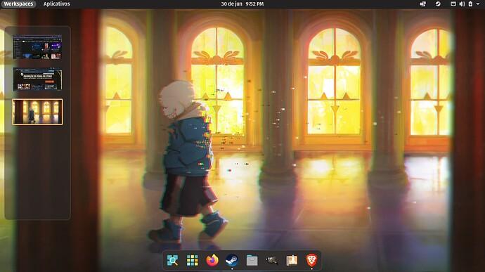Pop!_OS 21.04 com COSMIC e Workspaces
