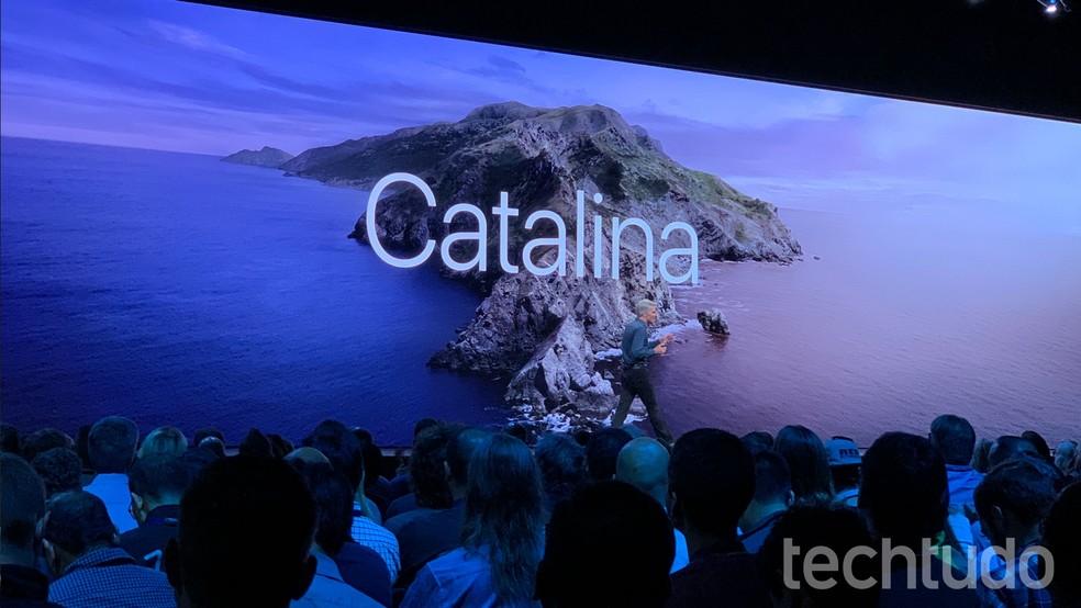 macOS Catalina é apresentado na WWDC 2019 — Foto: Thássius Veloso/TechTudo