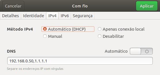 ServidorCache04ConfiguracaoIpClienteLinux