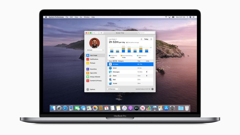macOS Catalina traz ferramenta que mede tempo de uso no computador — Foto: Divulgação/Apple