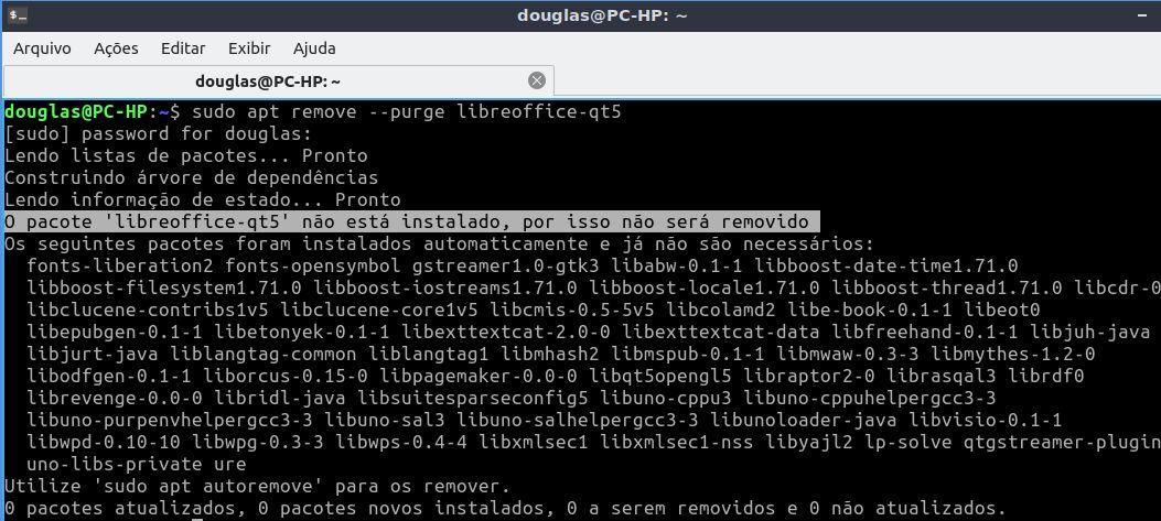 sudo apt remove --purge libreoffice-qt5