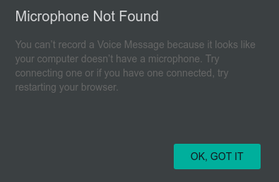 microphone not found wpp